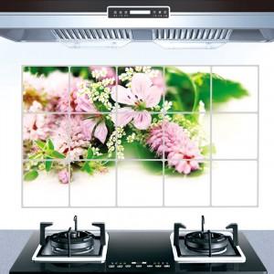 Flower Print Temperature Resistant Anti Dirt Kitchen Protective Sheet - Flower