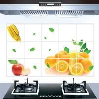 Fruit Print Temperature Resistant Anti Dirt Kitchen Protective Sheet - Orange