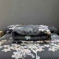 Floral Design Four Pieces Comforter Set