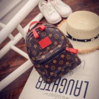 Ladies Fashion Vintage Backpack Bags - Red