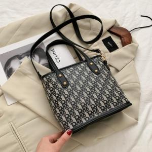 Designer Inspired Woman Casual Crossbody Bag - Gray