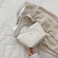 Medium Size Casual Women Shoulder Bag - White