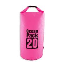 20L Waterproof Dry Bag Floating Shoulder Bag Roll Top - Hot Pink