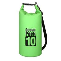10L Waterproof Dry Bag Floating Shoulder Bag Roll Top - Green