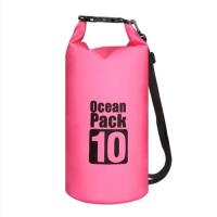 10L Waterproof Dry Bag Floating Shoulder Bag Roll Top - Hot Pink