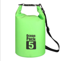 5L Waterproof Dry Bag Floating Shoulder Bag Roll Top - Green