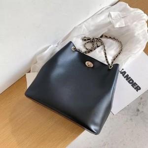 Medium Size Ladies Fashion Korean Crossbody Bag - Black