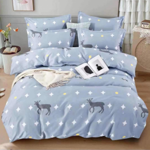 Animal Printed Three Pieces Bedsheet With Pillow Cases Set - 180 x 230cm