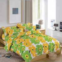 Floral Printed Three Pieces Bedsheet With Pillow Cases Set - 180 x 230cm