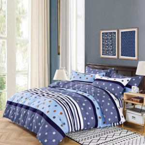 Dotted Printed Three Pieces Bedsheet With Pillow Cases Set - 180 x 230cm