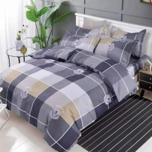 Geometric Luxury Printed Three Pieces Bedsheet With Pillow Cases Set - 180 x 230cm