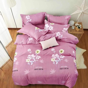 Floral Luxury Printed Three Pieces Bedsheet With Pillow Cases Set - 180 x 230cm