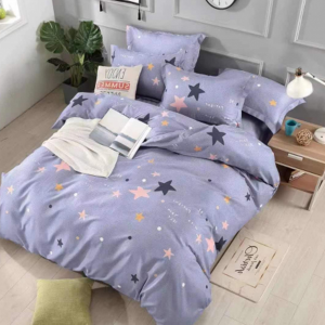 Luxury Printed Three Pieces Bedsheet With Pillow Cases Set - 180 x 230cm