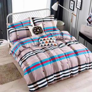 Printed Three Pieces Bedsheet With Pillow Cases Set - 220 x 230cm