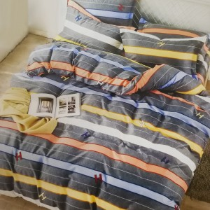 Printed Three Pieces Bedsheet With Pillow Cases Set - 200 x 230cm
