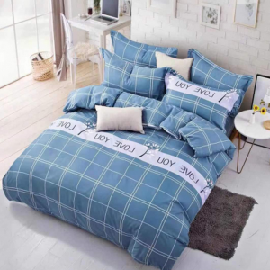 Square Printed Three Pieces Bedsheet With Pillow Cases Set - 180 x 230cm