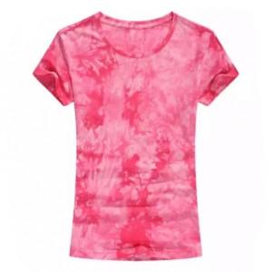 Round Neck Mesh Elegant Wear Top - Rose Red