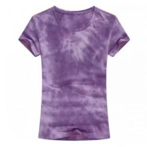 Round Neck Mesh Elegant Wear Top - Purple