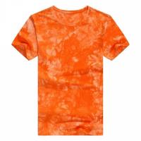Round Neck Mesh Elegant Wear Top - Orange