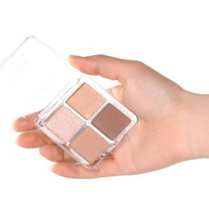 Four Shaded Water Resistant Face Grooming Shadow Kit - Dark Shades