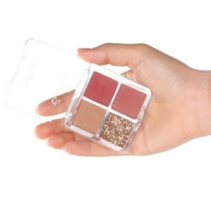Four Shaded Water Resistant Face Grooming Shadow Kit - Pink