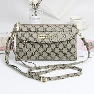 Zipper Closure Luxury Women Fashion Messenger Bags - Beige