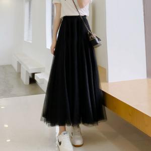 A-Line Solid Summer Fashion Women Wear Skirt - Black