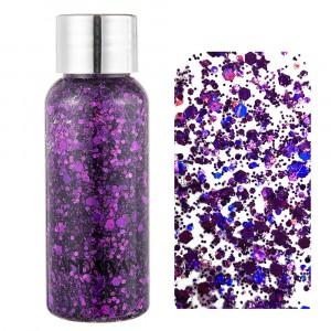 Mermaid Scale Face Body Glitter Eye Shadow Dazzle - Purple