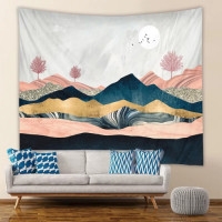 Home Decor Mountain and Trees Portrait Design Wall Hanging Tapestry