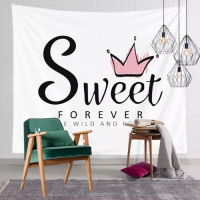 Home Decor Sweet Forever Print Wall Hanging Tapestry