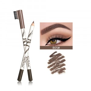 Cross Border Thin Eyebrow Pencil - Gray Brown