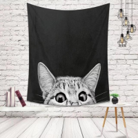 Home Decor Cat Design Wall Hanging Tapestry