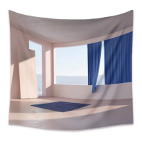 Home Decor Window Sea View Design Wall Hanging Tapestry