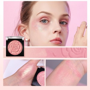 Natural Cover Matte Pearlescent Monochromatic Blush - Light Pink