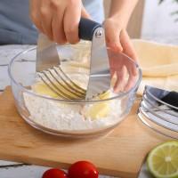 Stainless Steel Butter Flour Dough Baking Mixer - Silver