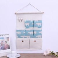 Multi Functional Wall Hanging Waterproof Storage Organizer - Sky Blue