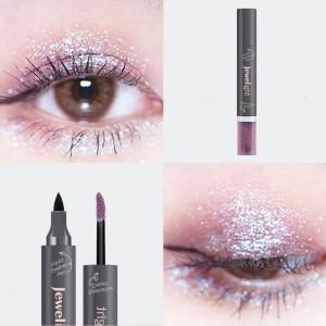 2 In 1 Pearl Liquid Eye Shadow Eyeliner - Black Purple