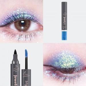 2 In 1 Pearl Liquid Eye Shadow Eyeliner - Blue Black