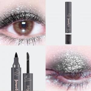 2 In 1 Pearl Liquid Eye Shadow Eyeliner - Black