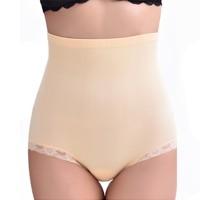 Slim High Waist Elastic Belly Shaper Underwear - Skin Color