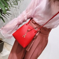 Women Shoulder Deer Bucket Messenger Bag - Red