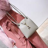 Women Shoulder Deer Bucket Messenger Bag - Gray