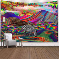 Home Decors Colorful With Zebra Design Wall Hanging Tapestry