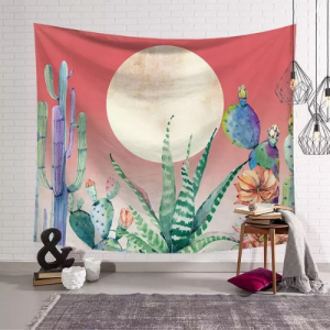 Home Decors Cactus Design Wall Hanging Tapestry