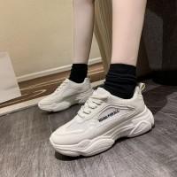 Soft Thick Bottom Light Weight Women Running Sneakers - Beige