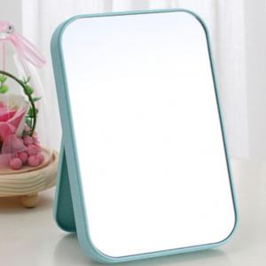 Makeup Grooming Fancy Plastic Easy Stand Mirror - Blue