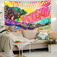 Home Colorful Mountain Design Wall Hanging Tapestry