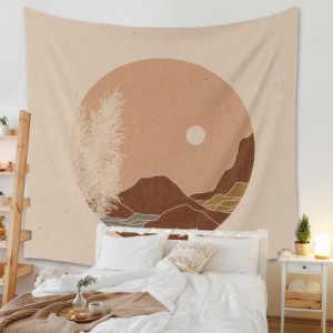 Home Decors Mountain and Moon Portrait Design Wall Hanging Tapestry