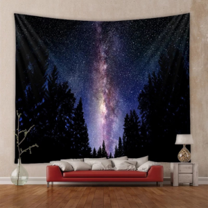 Home Decors Midnigt and Tree Design Wall Hanging Tapestry