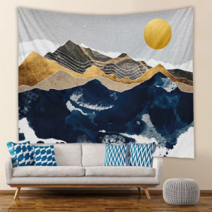 Home Mountain Sunrise Design Wall Hanging Tapestry